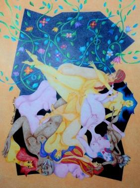 Ovilladas en su jardín | Estela Dotto
